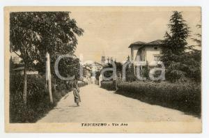 1920 TRICESIMO (UD) Veduta del paese - Cartolina ANIMATA FP VG