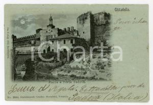 1900 CITTADELLA (PD) Veduta con ponte e Porta Padova - Cartolina FP VG