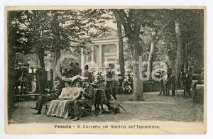 1900 ca VENEZIA Al concerto nel Giardino dell'Esposizione - Cartolina FP VG