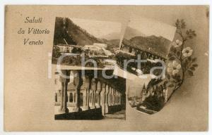 1920 VITTORIO VENETO (TV) Vedutine della città - Cartolina FP VG