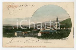 1903 VALDOBBIADENE (TV) Panorama da VILLA REBUSTELLO Cartolina FP VG
