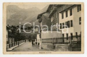 1920 ca CARNIA - AMPEZZO Panorama del paese - Cartolina ANIMATA FP VG