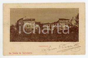 1902 SPILIMBERGO (PN) Panorama con Castello - Cartolina FP VG