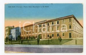 1920 ca SAN FIOR (TV) Stabilimento bacologico Liberale DE NARDI Cartolina FP VG