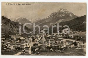 1934 SANTO STEFANO DI CADORE (BL) Panorama del paese - Cartolina FP VG