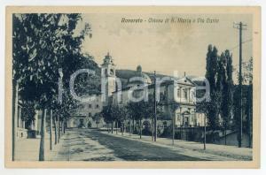 1932 ROVERETO (TN) Chiesa di Santa Maria e Via Dante - Cartolina FP VG