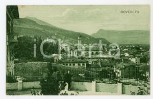 1919 ROVERETO (TN) Panorama della città - Cartolina ANIMATA FP VG