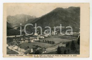 1920 CARNIA - PALUZZA Pizzo del Timau e Centro Escursioni Estive - Cartolina FP