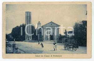 1920 ca AZZANO DECIMO (PN) Frazione di TIEZZO - Cartolina ANIMATA FP VG