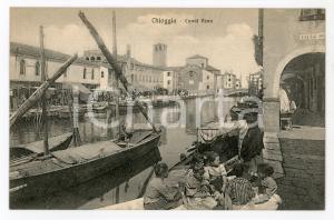 1920 ca CHIOGGIA (VE) Canal Vena - Cartolina ANIMATA FP VG
