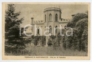 1943 MARTIGNANO Frazione TORREANO Villa di Prampero - Cartolina FP VG