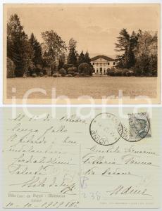 1929 MOIMACCO (UD) Villa De Puppi - Autografo di Elena DE PUPPI Cartolina FP VG