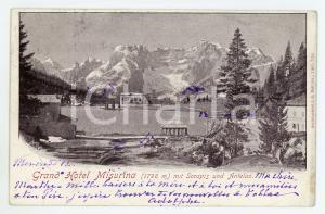 1900 GRAND HOTEL MISURINA Monte Antelao e Lago di Sorapis - Cartolina FP VG