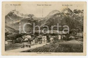 1920ca SOCCHIEVE - MEDIIS Monte Tinisa PASSO DEL PURA Monte SESILIS Cartolina FP