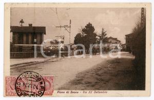 1924 PIOVE DI SACCO (PD) Via XX Settembre - Cartolina ANIMATA FP VG