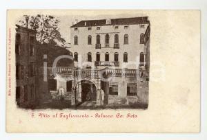 1900 ca SAN VITO AL TAGLIAMENTO (PN) Palazzo ROTA Cartolina DANNEGGIATA FP VG