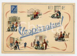 1950 ca VESPA PIAGGIO Cartolina pubblicitaria