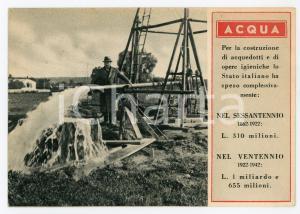1940 ca OPERE DEL FASCISMO Acquedotti e opere igieniche - Cartolina FG NV
