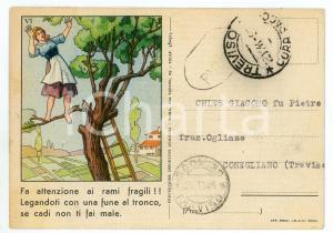 1944 TREVISO Istituto Nazionale Infortuni - Cartolina per visita medica FG VG