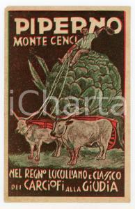 1955ca ROMA Monte Cenci - Ristorante PIPERNO Carciofi alla giudia - Cartolina FG