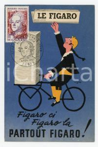 1967 FRANCE - LE FIGARO Beaumarchais - Timbre-poste et annulation premier jour