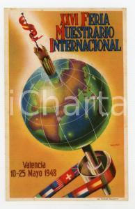 1948 VALENCIA XXVI Feria Muestrario Internacional - Original vintage POSTCARD