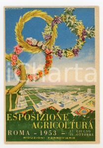 1953 ROMA Esposizione Agricoltura - Illustrazione HOLZER Cartolina con annullo