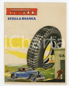 1940 ca Pneumatici PIRELLI Stella bianca - Cartoncino pubblicitario 11x14 cm