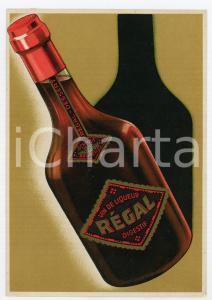 1920 ca BRUXELLES - SCHMIDT Vin de liqueur REGAL Cartoncino pubblicitario