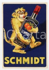 1920 ca BRUXELLES Liqueur SCHMIDT Cartoncino pubblicitario ILLUSTRATO