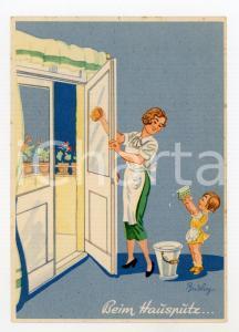 1930ca AGFA VISKOSE SCHWAMM Illustrated by Ferdinand BARLOG Postcard FG NV