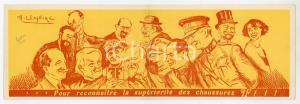 1930ca BRUXELLES Chaussures FF Illustré par H. LEMAIRE Pieghevole pubblicitario