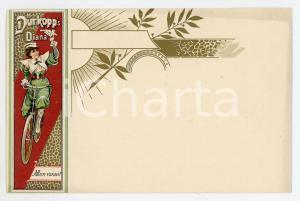 1900 ca Bycicle DURKOPP DIANA - Allen voran! - Vintage postcard advertising