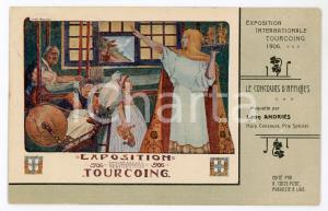 1906 TOURCOING Exposition Internationale - Carte postale maquette Léon ANDRIES