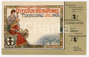 1906 TOURCOING Exposition Internationale - Carte postale maquette C. LABRIFFE