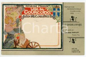 1906 TOURCOING Exposition Internationale - Carte postale maquette Quesnay DUFLOT