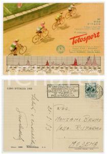 1953 TOTOSPORT 36° Giro d'Italia - Cartolina con annullo IX Tappa PISA - MODENA