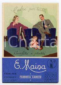 1950 ca TORINO Fabbrica di camicie E. MAINA - Cartolina ILLUSTRATA FG NV
