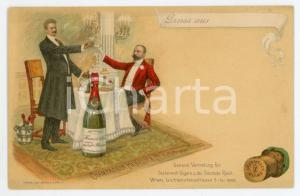 1900 ca REIMS Champagne HENRIOT & Co. - Carte postale publicitaire illustrée