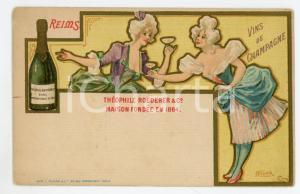 1900 ca REIMS Champagne Théophile ROEDERER *Carte postale illustrée NOVER