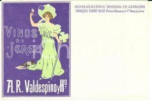 1900 ca BARCELONA Enrique TERRE ASTO Vinos de JEREZ - Illustrated postcard
