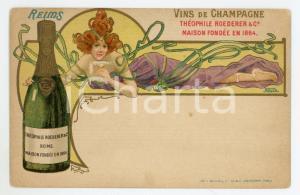 1900 ca REIMS Champagne Théophile ROEDERER & C *Carte postale illustrée NOVER
