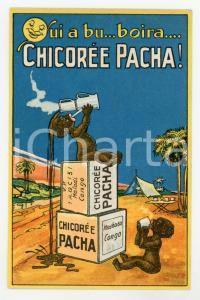 1910 ca BELGIQUE Chicorée PACHA - Carte postale publicitaire coloniale CONGO