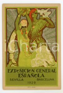 1929 SEVILLA / BARCELONA Exposición General Española - Original postcard women