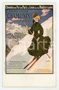 1910 ca Abel FAIVRE - Chemin de Fer PLM - Sports d'Hiver CHAMONIX Carte Postale