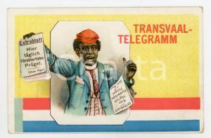 1900ca TRANSVAAL-TELEGRAMM Extrablatt - Paul OHM - ILLUSTRATED Postcard FP NV