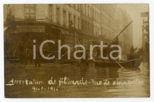 1910 PARIS GRANDE CRUE Arrestation pilliards - Rue de Charenton *Postcard RPPC