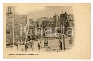 1899 PARIS Fort Chabrol - Jules GUERIN sur son fort - Carte postale CPA