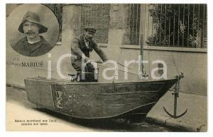 1920 ca PARIS MARIUS - Bateau marchant sur l'eau comme sur terre - Carte postale