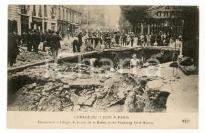 1910 ca PARIS Orage 15 Juin - Eboulement Faubourg Saint-Honoré - Carte postale